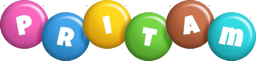 Pritam candy logo