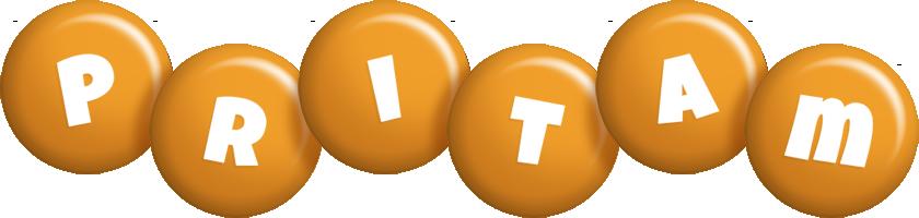 Pritam candy-orange logo