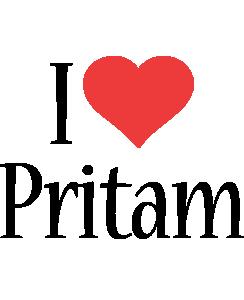 Pritam i-love logo