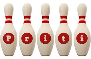 Priti bowling-pin logo