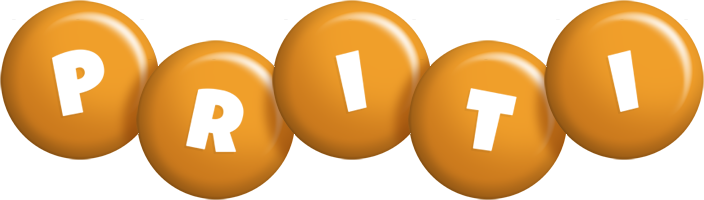 Priti candy-orange logo