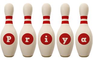 Priya bowling-pin logo