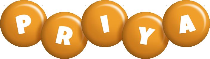 Priya candy-orange logo