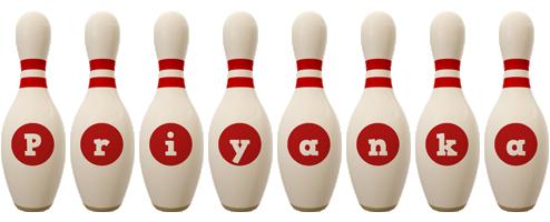 Priyanka bowling-pin logo