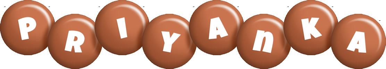 Priyanka candy-brown logo