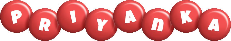 Priyanka candy-red logo
