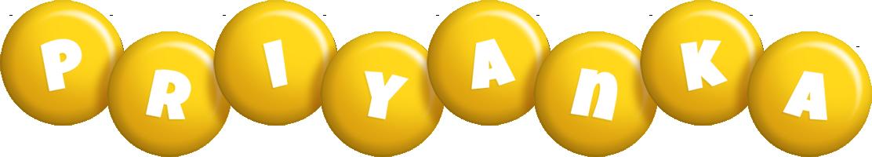Priyanka candy-yellow logo