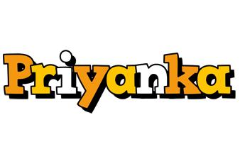 Priyanka cartoon logo