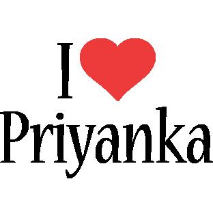 Priyanka i-love logo