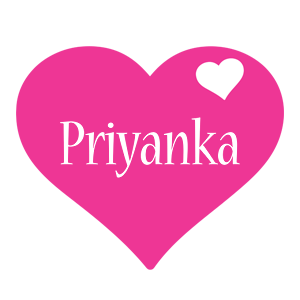 Priyanka love-heart logo