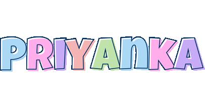 Priyanka pastel logo
