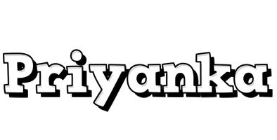 Priyanka snowing logo
