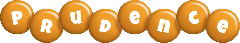Prudence candy-orange logo