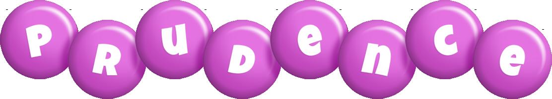 Prudence candy-purple logo