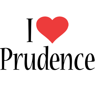 Prudence i-love logo