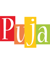Puja colors logo