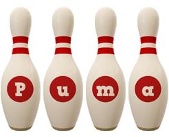 Puma bowling-pin logo