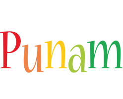 Punam birthday logo
