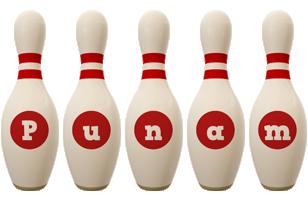 Punam bowling-pin logo