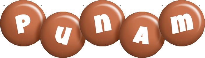 Punam candy-brown logo