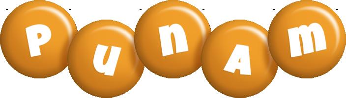 Punam candy-orange logo