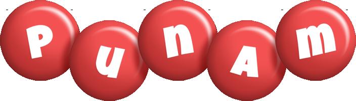 Punam candy-red logo