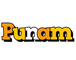 Punam cartoon logo