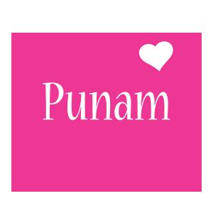 Punam love-heart logo