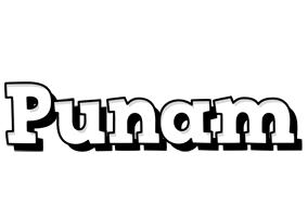 Punam snowing logo