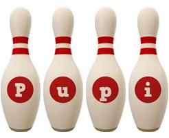 Pupi bowling-pin logo