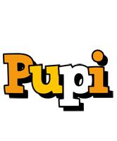 Pupi cartoon logo