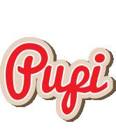 Pupi chocolate logo