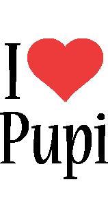 Pupi i-love logo
