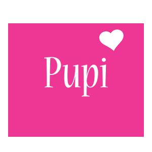 Pupi love-heart logo