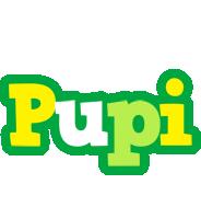 Pupi soccer logo