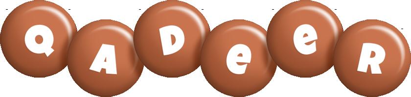 Qadeer candy-brown logo