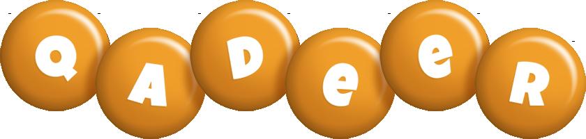 Qadeer candy-orange logo