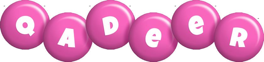 Qadeer candy-pink logo