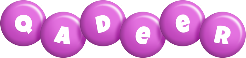 Qadeer candy-purple logo