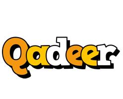 Qadeer cartoon logo