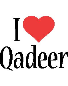 Qadeer i-love logo