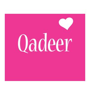 Qadeer love-heart logo