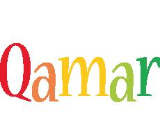 Qamar birthday logo