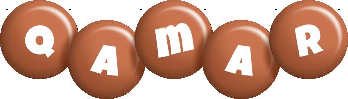Qamar candy-brown logo