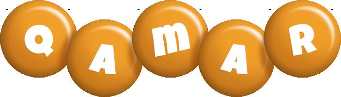 Qamar candy-orange logo