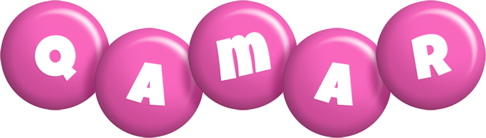 Qamar candy-pink logo