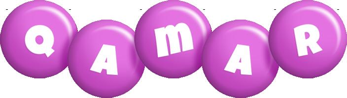 Qamar candy-purple logo