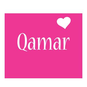 Qamar love-heart logo