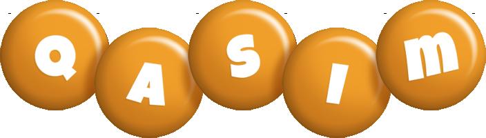 Qasim candy-orange logo