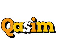 Qasim cartoon logo